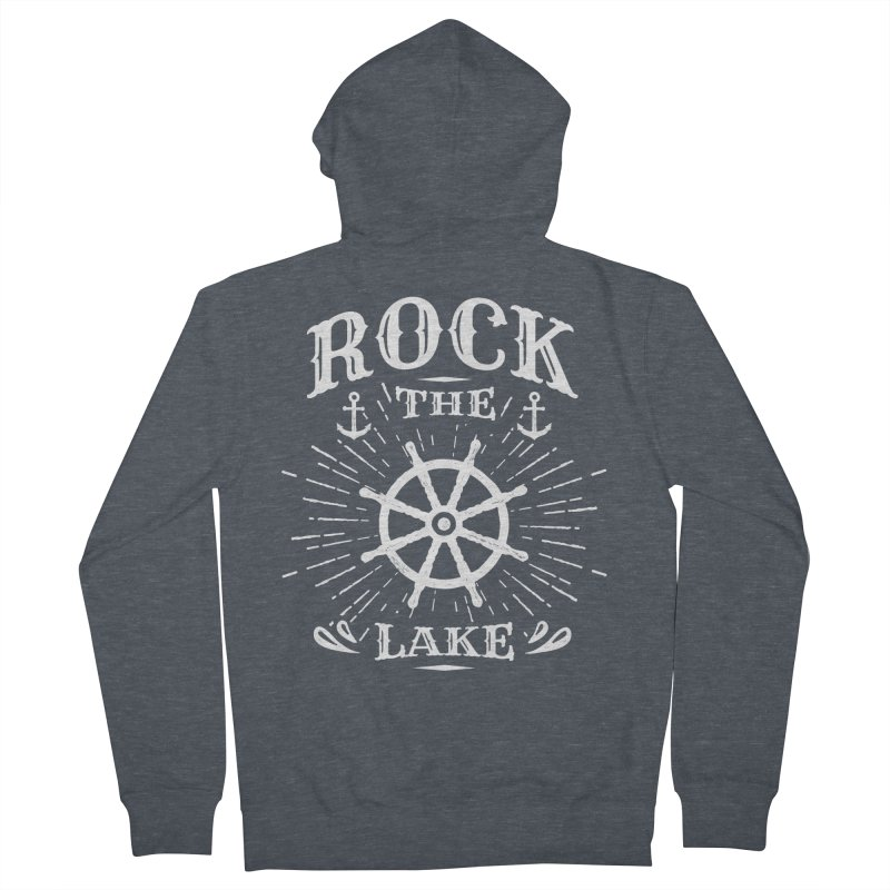 Rock the Lake - Ships Wheel White Women's French Terry Zip-Up Hoody by Rock the Lake's Shop