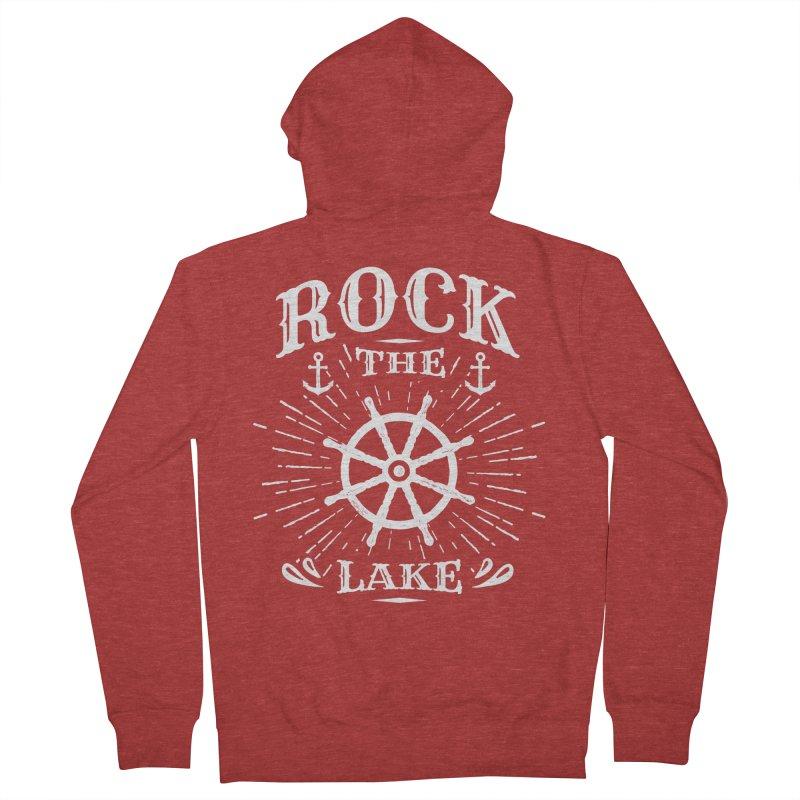 Rock the Lake - Ships Wheel White Women's French Terry Zip-Up Hoody by Rock the Lake's Shop