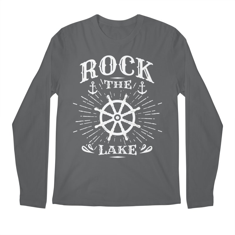 Rock the Lake - Ships Wheel White Men's Regular Longsleeve T-Shirt by Rock the Lake's Shop
