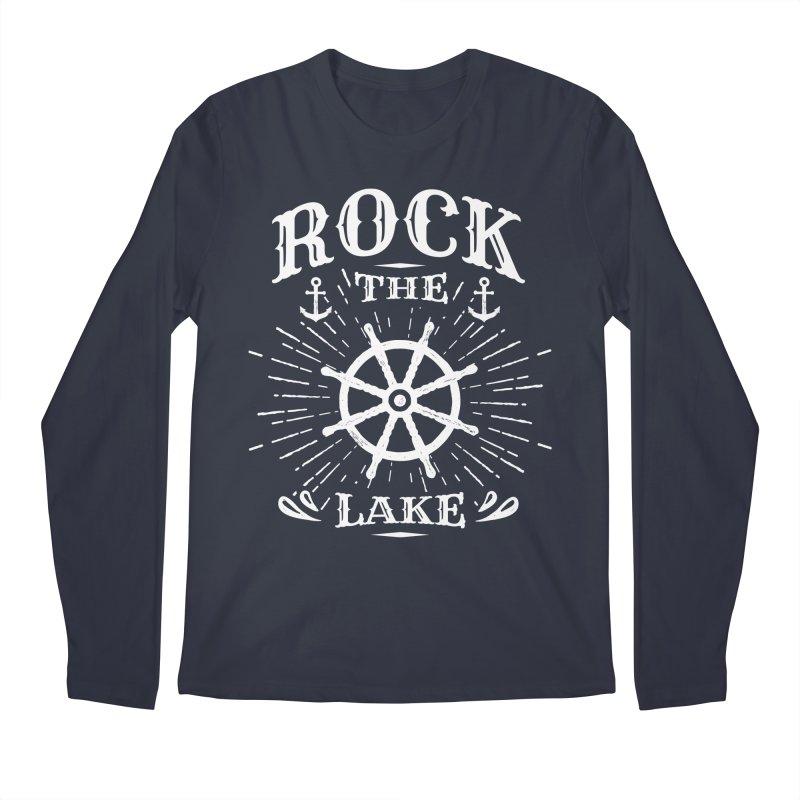 Rock the Lake - Ships Wheel White Men's Regular Longsleeve T-Shirt by Rock the Lake's Shop
