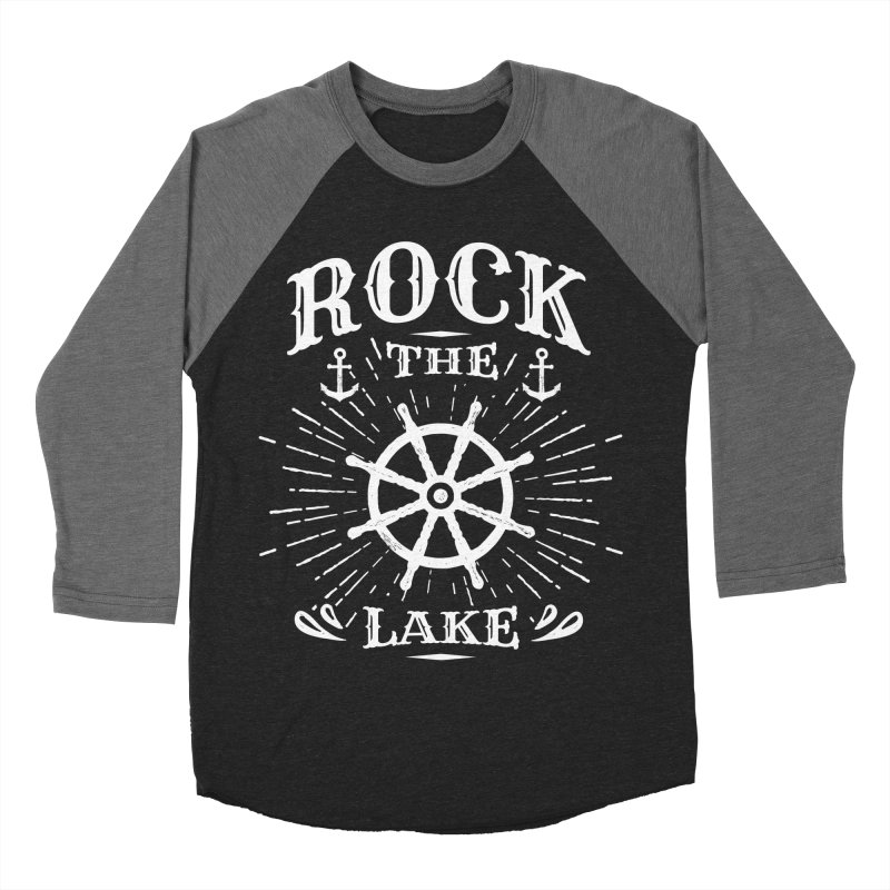 Rock the Lake - Ships Wheel White Men's Baseball Triblend Longsleeve T-Shirt by Rock the Lake's Shop