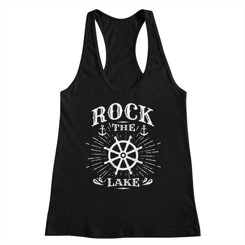 Rock the Lake - Ships Wheel White Women's Racerback Tank by Rock the Lake's Shop