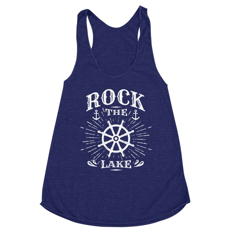 Rock the Lake - Ships Wheel White Women's Tank by Rock the Lake's Shop