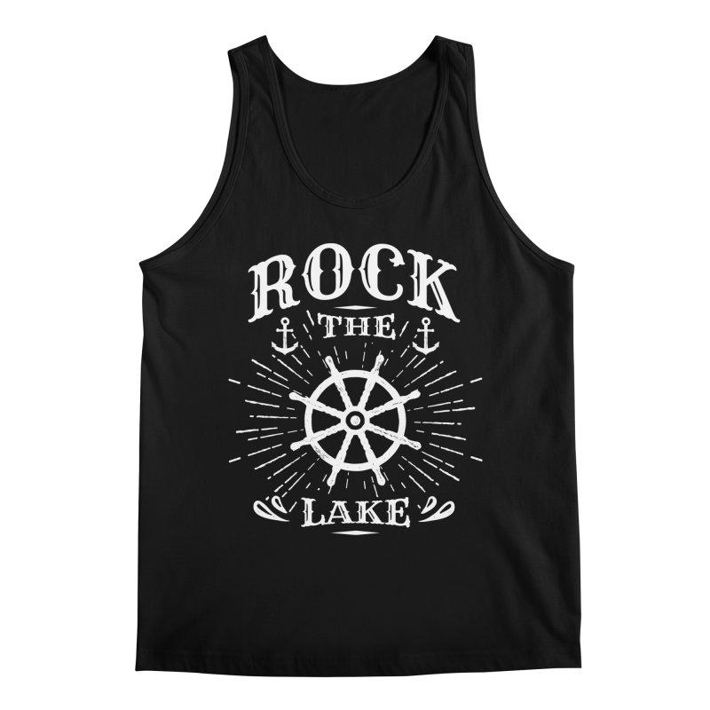 Rock the Lake - Ships Wheel White Men's Regular Tank by Rock the Lake's Shop