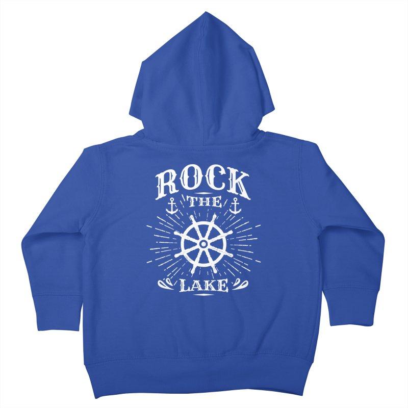 Rock the Lake - Ships Wheel White Kids Toddler Zip-Up Hoody by Rock the Lake's Shop