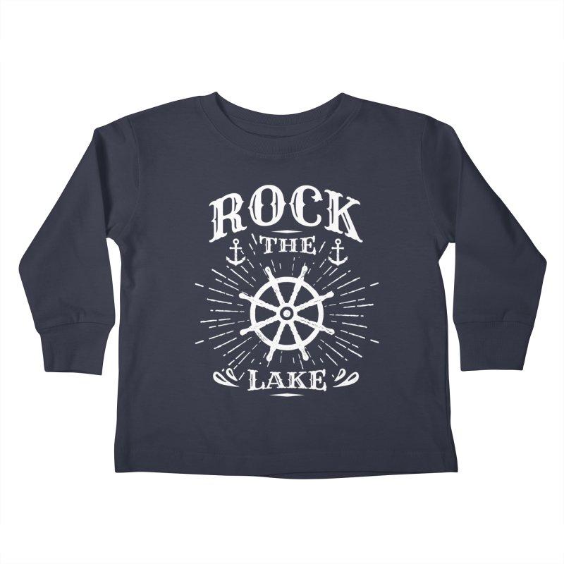 Rock the Lake - Ships Wheel White Kids Toddler Longsleeve T-Shirt by Rock the Lake's Shop