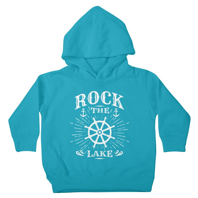 Rock the Lake - Ships Wheel White Kids Toddler Pullover Hoody by Rock the Lake's Shop