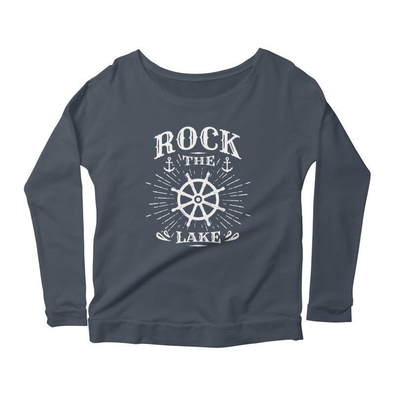 Rock the Lake - Ships Wheel White Women's Scoop Neck Longsleeve T-Shirt by Rock the Lake's Shop