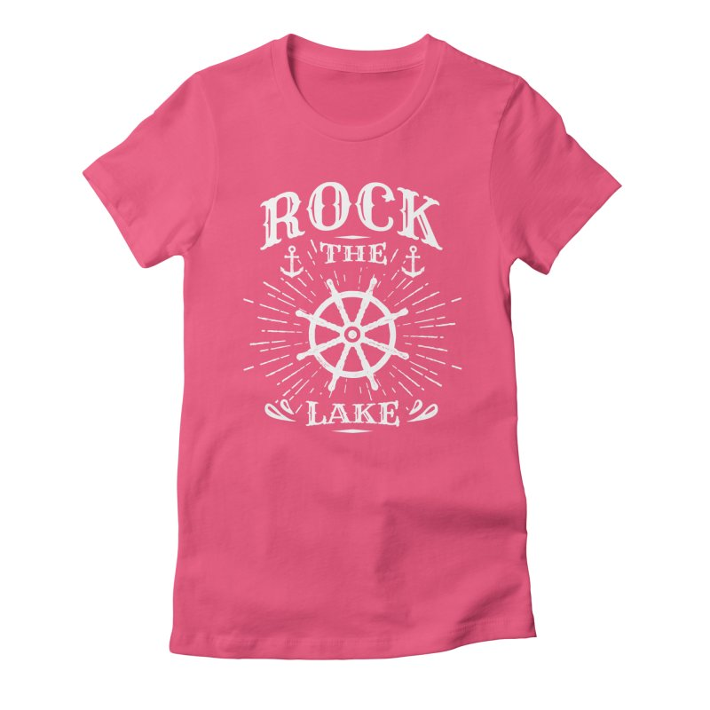 Rock the Lake - Ships Wheel White Women's Fitted T-Shirt by Rock the Lake's Shop