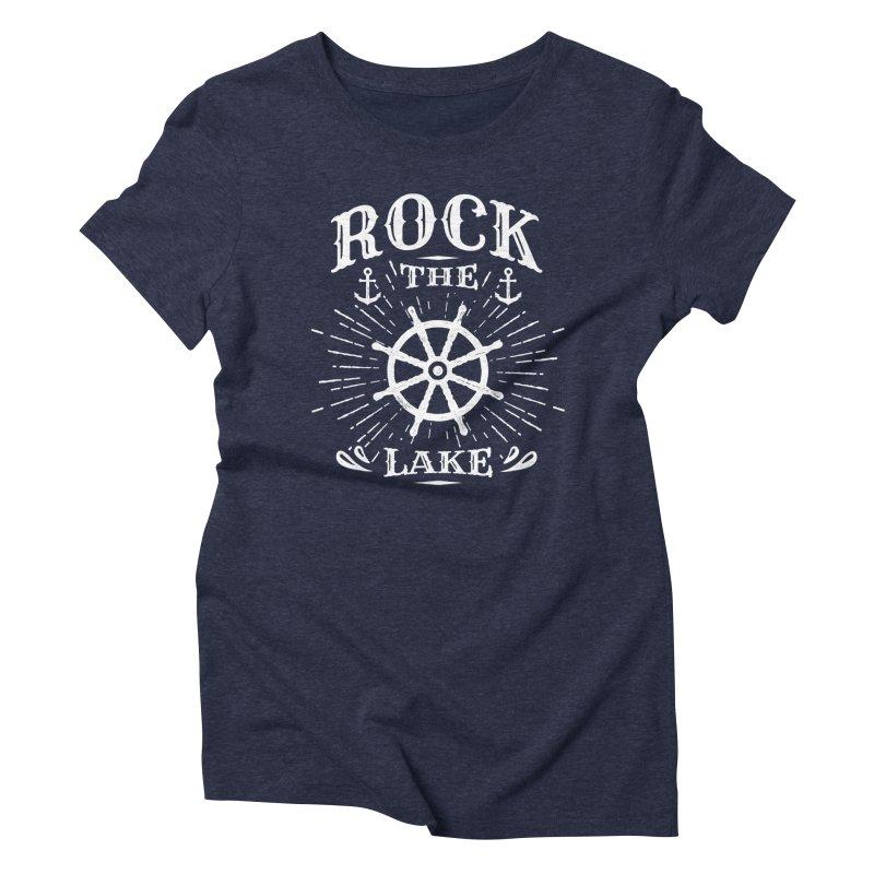 Rock the Lake - Ships Wheel White Women's Triblend T-Shirt by Rock the Lake's Shop