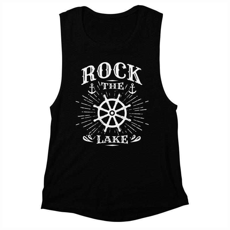 Rock the Lake - Ships Wheel White Women's Muscle Tank by Rock the Lake's Shop