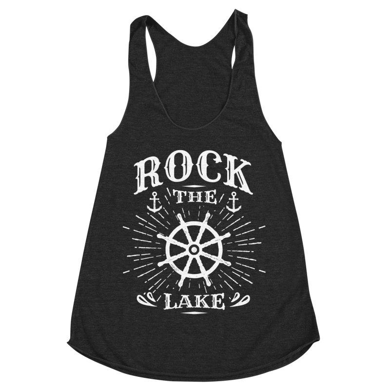 Rock the Lake - Ships Wheel White Women's Racerback Triblend Tank by Rock the Lake's Shop