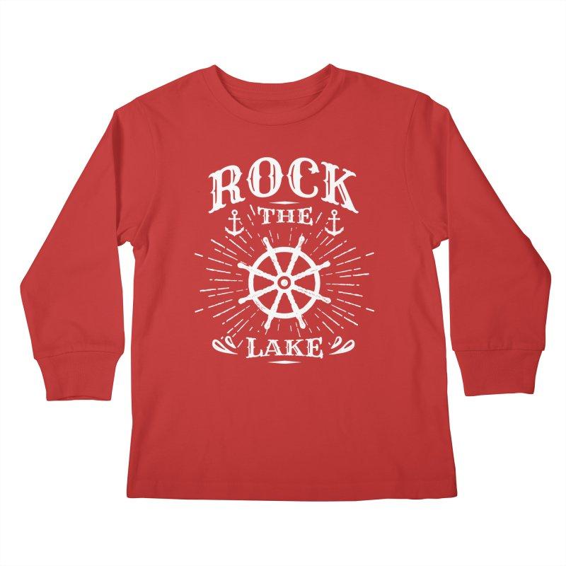 Rock the Lake - Ships Wheel White Kids Longsleeve T-Shirt by Rock the Lake's Shop