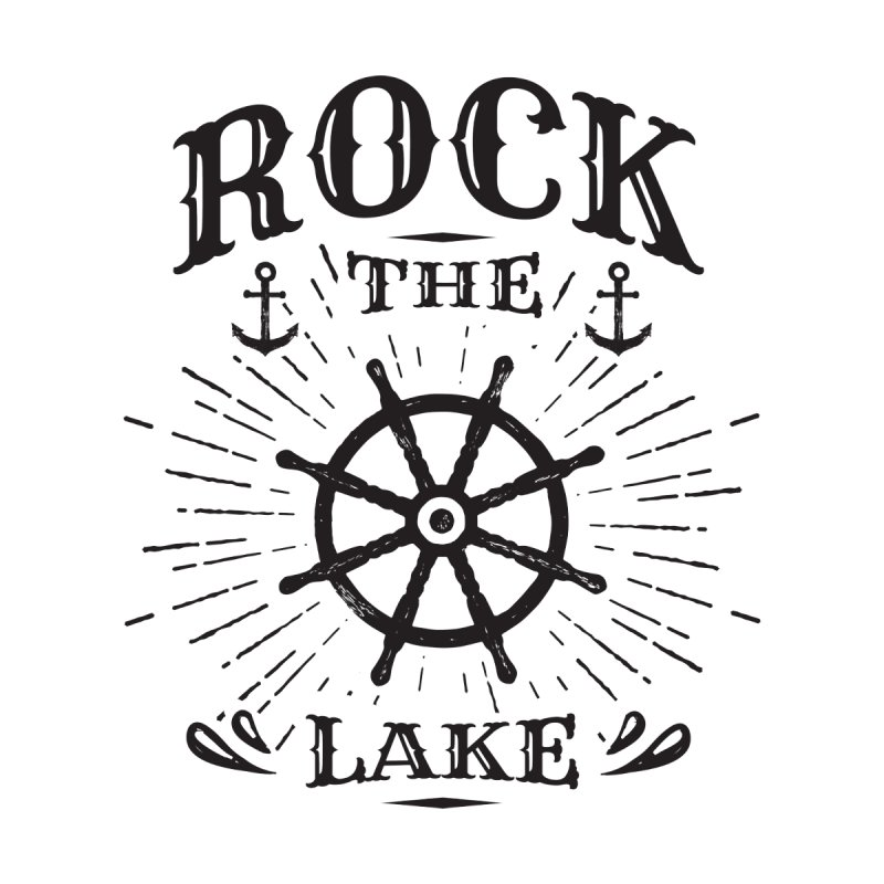 Rock the Lake - Ships Wheel Black Home Blanket by Rock the Lake's Shop