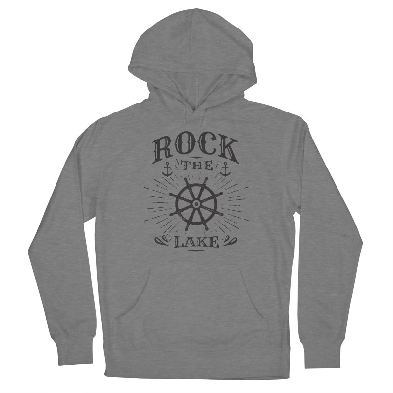 Rock the Lake - Ships Wheel Black Men's French Terry Pullover Hoody by Rock the Lake's Shop