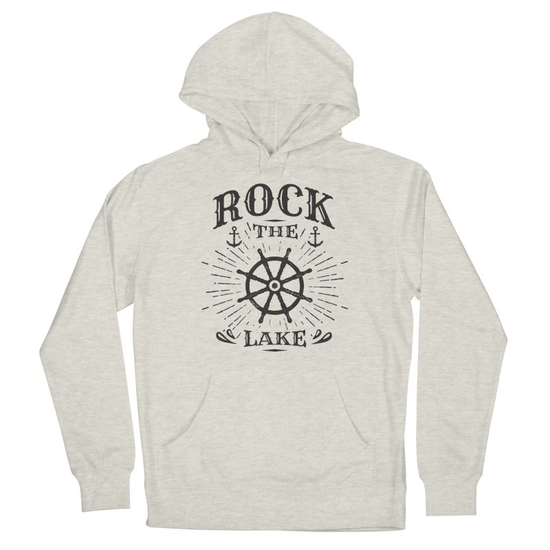 Rock the Lake - Ships Wheel Black Women's French Terry Pullover Hoody by Rock the Lake's Shop