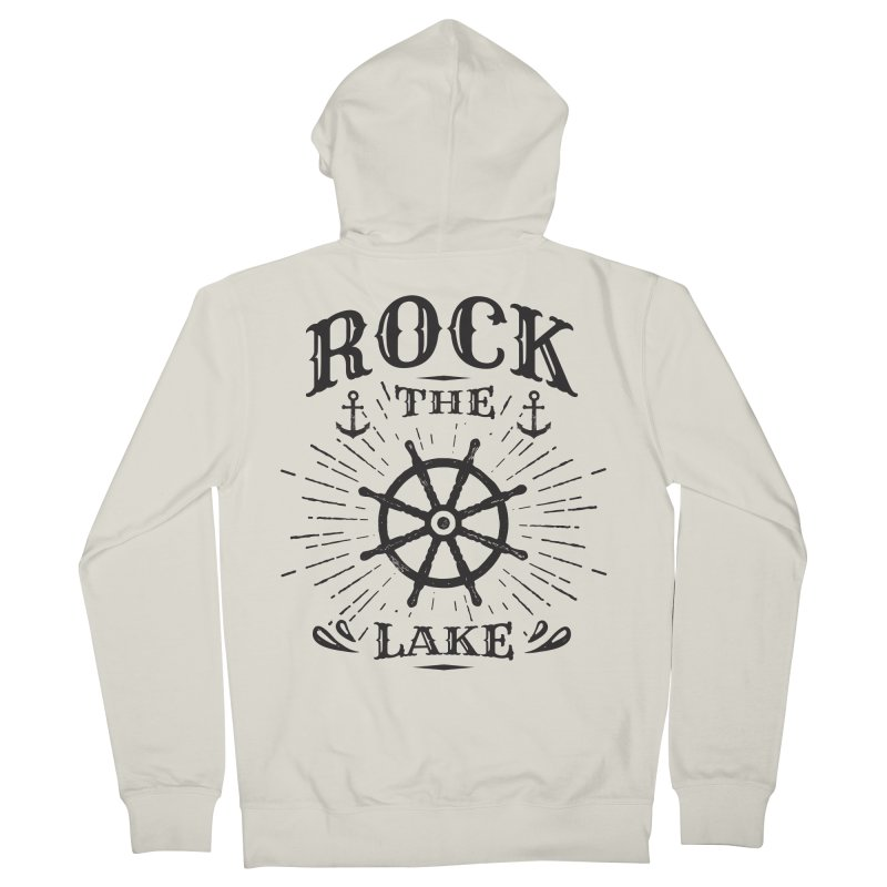 Rock the Lake - Ships Wheel Black Women's French Terry Zip-Up Hoody by Rock the Lake's Shop