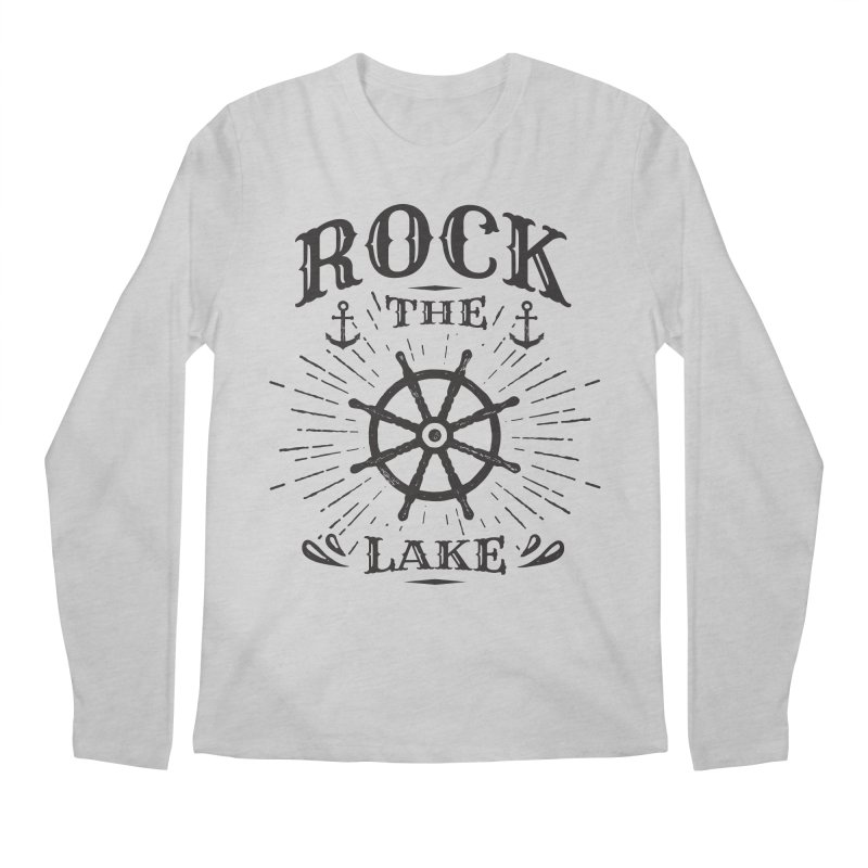 Rock the Lake - Ships Wheel Black Men's Regular Longsleeve T-Shirt by Rock the Lake's Shop