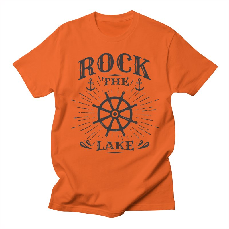 Rock the Lake - Ships Wheel Black Women's Regular Unisex T-Shirt by Rock the Lake's Shop