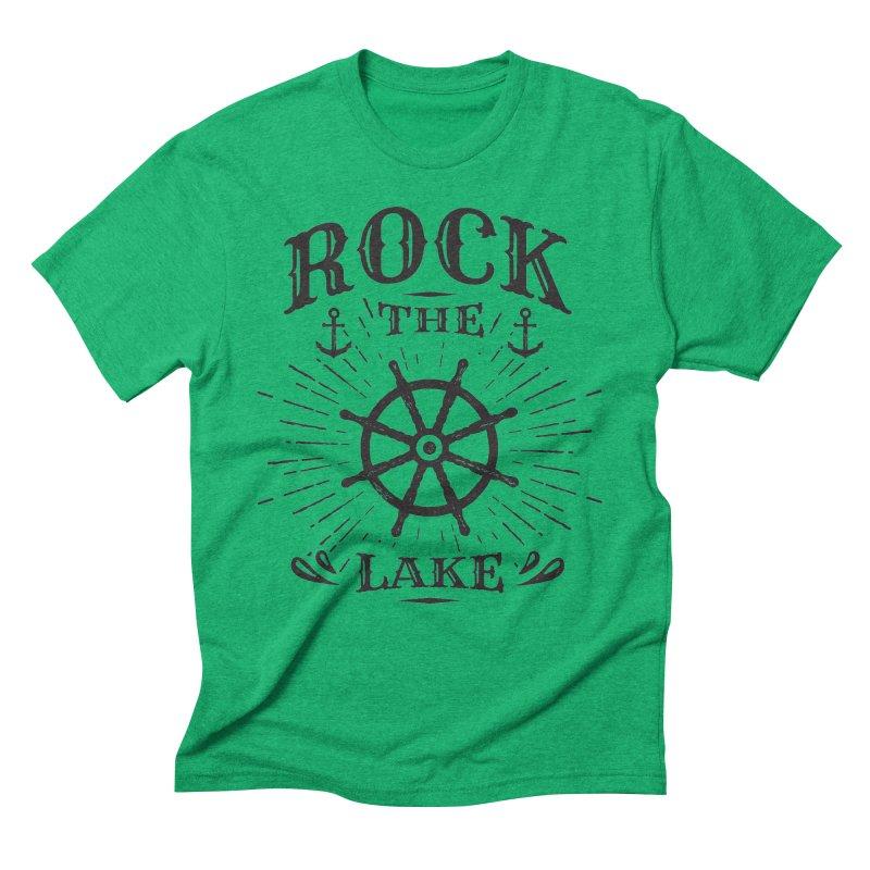 Rock the Lake - Ships Wheel Black Men's Triblend T-Shirt by Rock the Lake's Shop