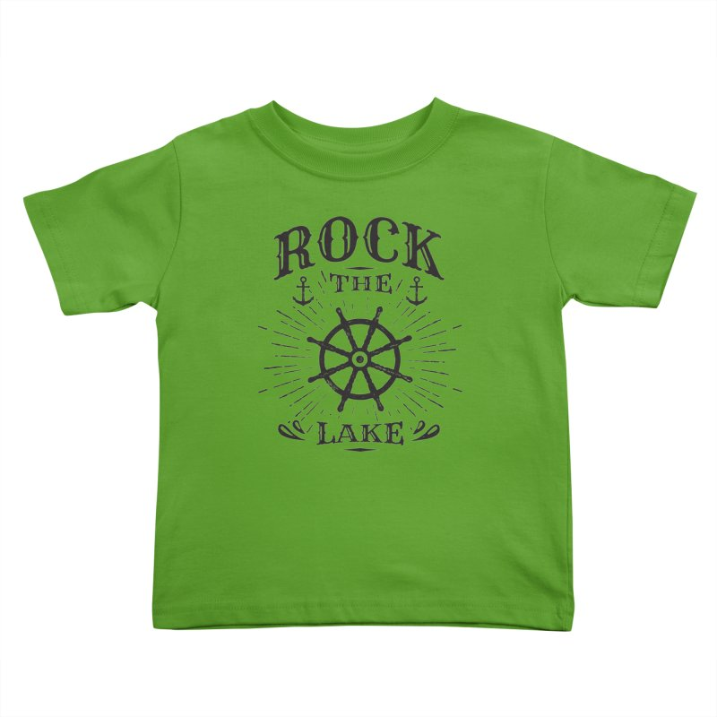 Rock the Lake - Ships Wheel Black Kids Toddler T-Shirt by Rock the Lake's Shop