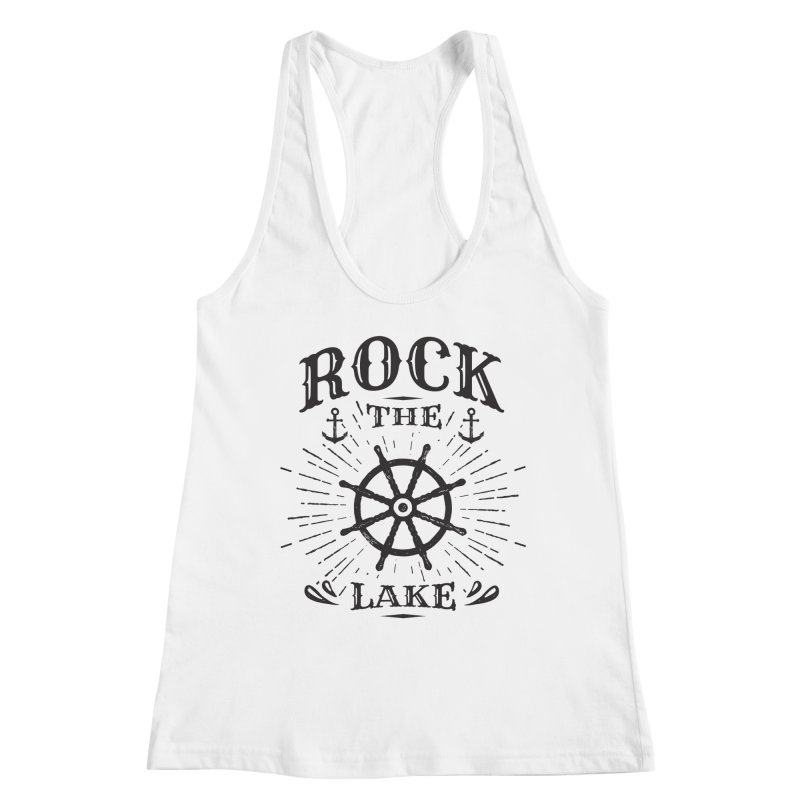 Rock the Lake - Ships Wheel Black Women's Racerback Tank by Rock the Lake's Shop