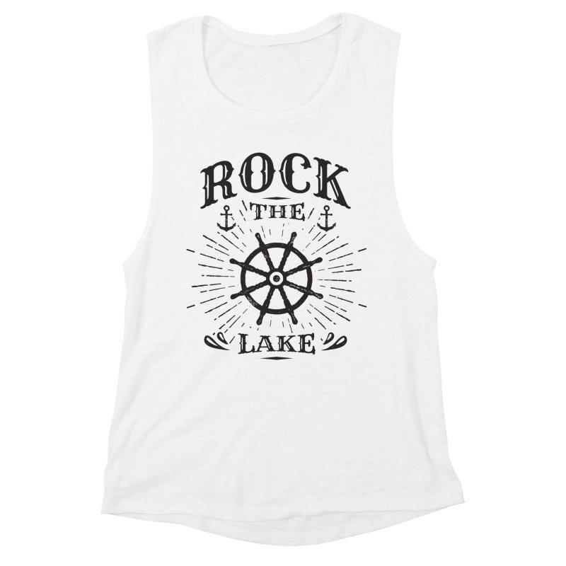 Rock the Lake - Ships Wheel Black Women's Tank by Rock the Lake's Shop