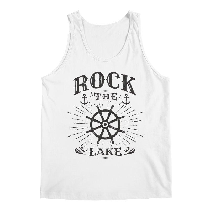 Rock the Lake - Ships Wheel Black Men's Regular Tank by Rock the Lake's Shop