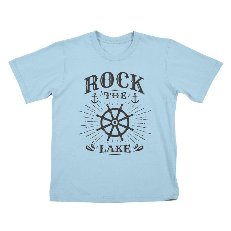 Rock the Lake - Ships Wheel Black Kids T-Shirt by Rock the Lake's Shop