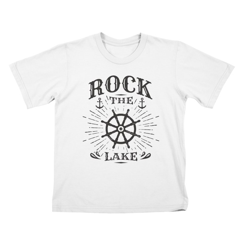 Rock the Lake - Ships Wheel Black Kids T-Shirt by Rock the Lake's Shop