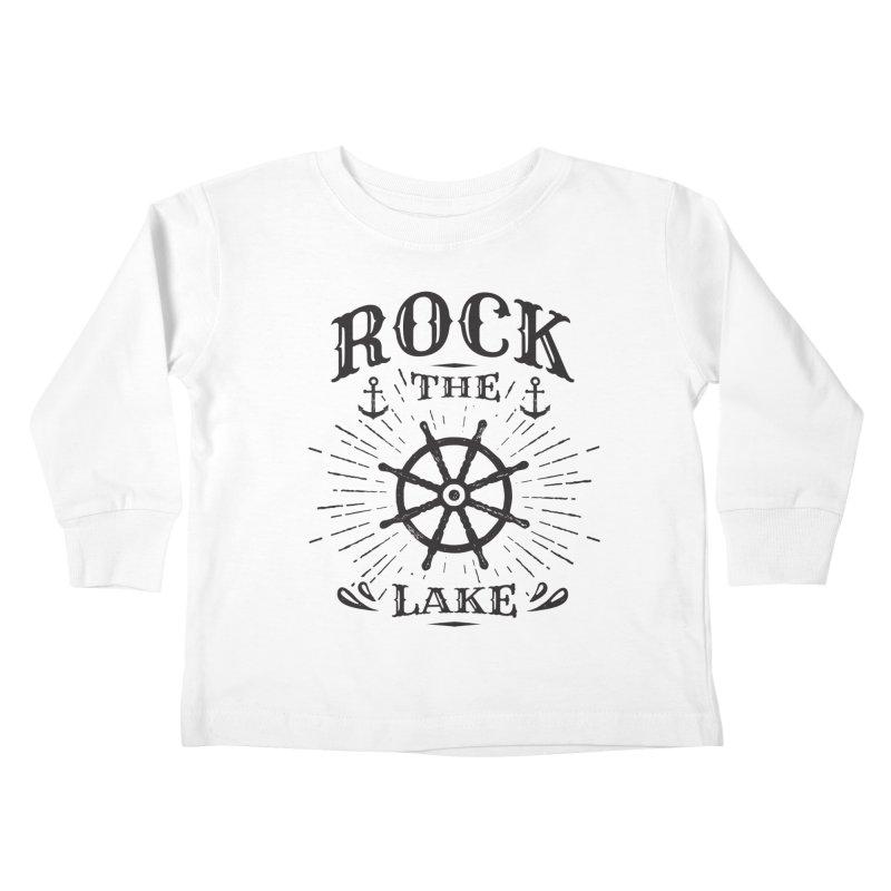 Rock the Lake - Ships Wheel Black Kids Toddler Longsleeve T-Shirt by Rock the Lake's Shop