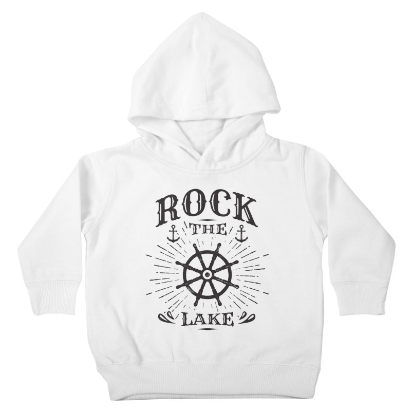 Rock the Lake - Ships Wheel Black Kids Toddler Pullover Hoody by Rock the Lake's Shop