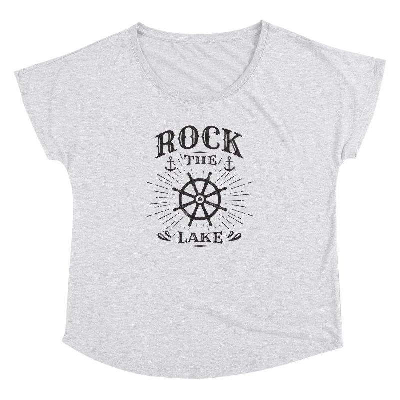 Rock the Lake - Ships Wheel Black Women's Dolman Scoop Neck by Rock the Lake's Shop