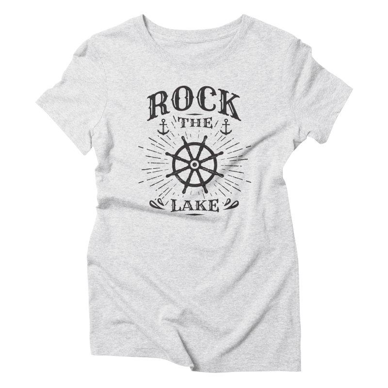 Rock the Lake - Ships Wheel Black Women's Triblend T-Shirt by Rock the Lake's Shop