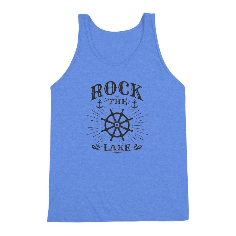Rock the Lake - Ships Wheel Black Men's Tank by Rock the Lake's Shop
