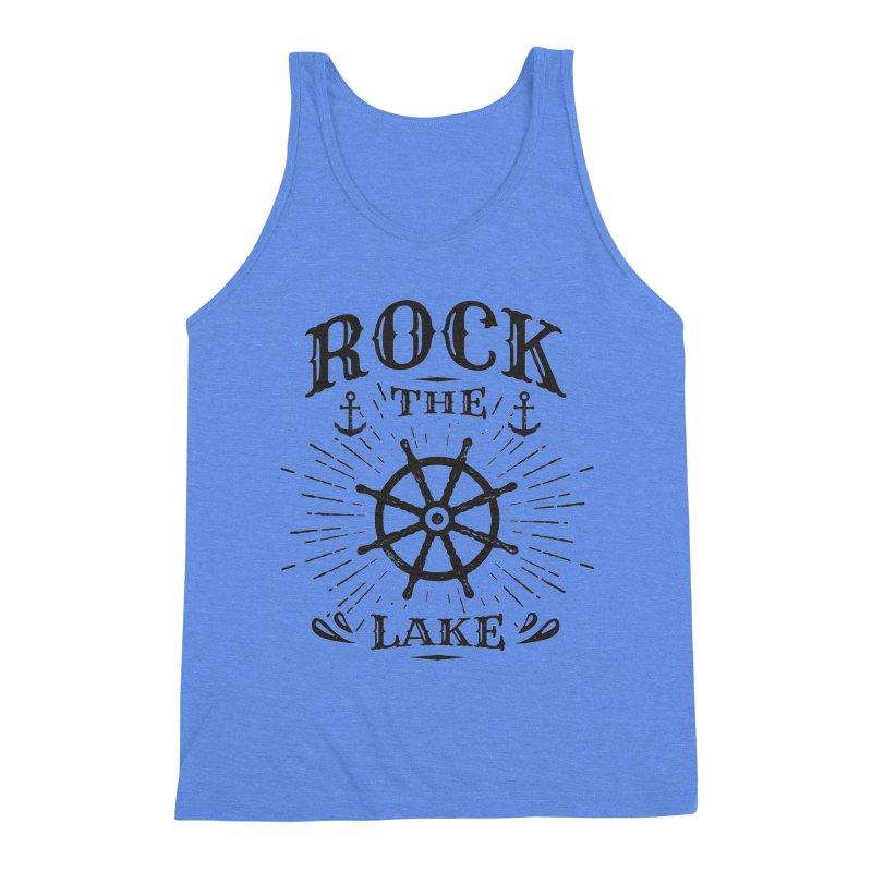 Rock the Lake - Ships Wheel Black Men's Triblend Tank by Rock the Lake's Shop