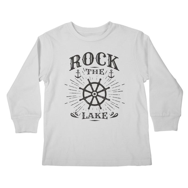 Rock the Lake - Ships Wheel Black Kids Longsleeve T-Shirt by Rock the Lake's Shop