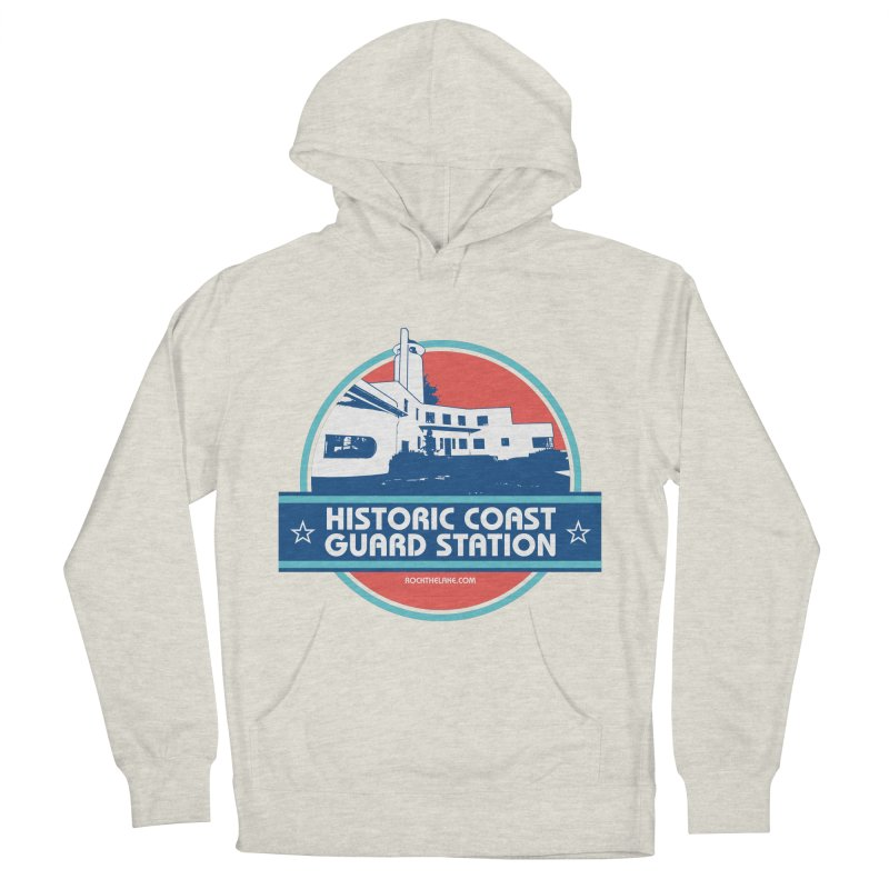 Old Coast Guard Station Men's French Terry Pullover Hoody by Rock the Lake's Shop