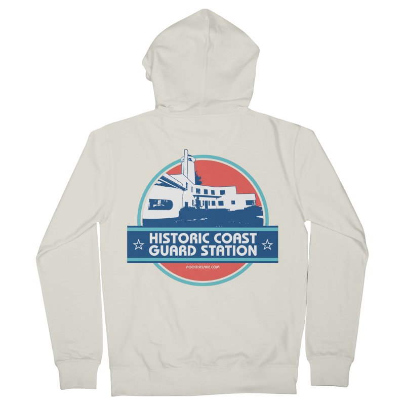 Old Coast Guard Station Men's French Terry Zip-Up Hoody by Rock the Lake's Shop