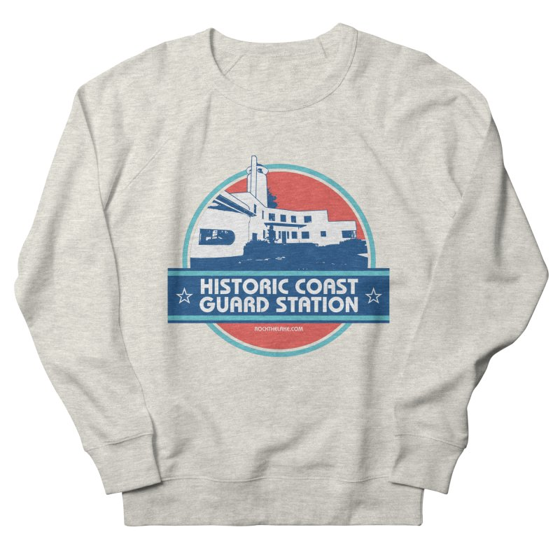 Old Coast Guard Station Men's French Terry Sweatshirt by Rock the Lake's Shop