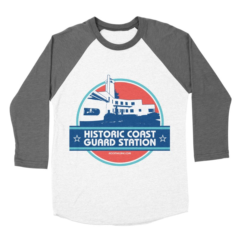 Old Coast Guard Station Men's Baseball Triblend Longsleeve T-Shirt by Rock the Lake's Shop