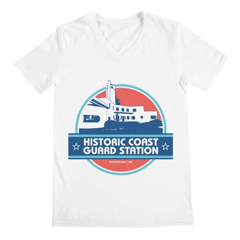 Old Coast Guard Station Men's Regular V-Neck by Rock the Lake's Shop