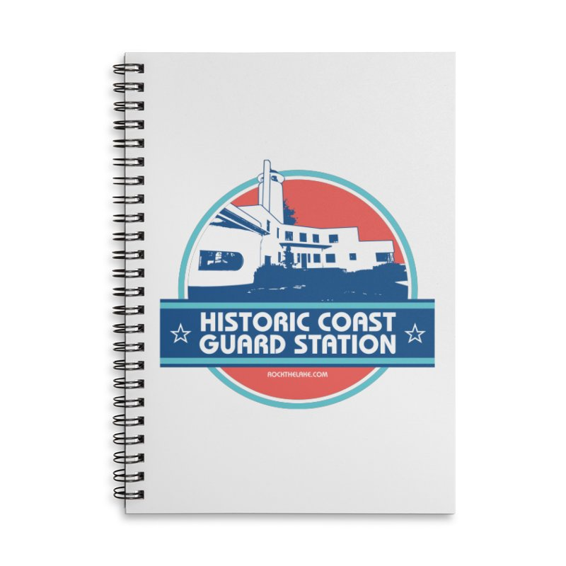 Old Coast Guard Station Accessories Lined Spiral Notebook by Rock the Lake's Shop