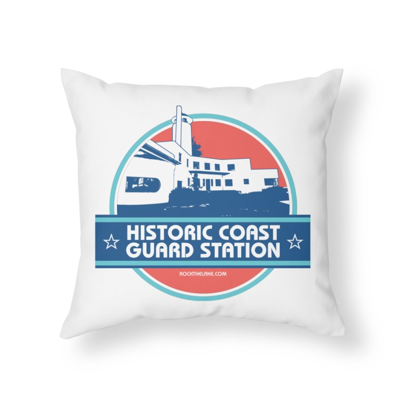 Old Coast Guard Station Home Throw Pillow by Rock the Lake's Shop