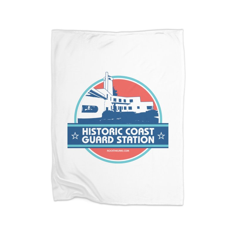 Old Coast Guard Station Home Fleece Blanket Blanket by Rock the Lake's Shop