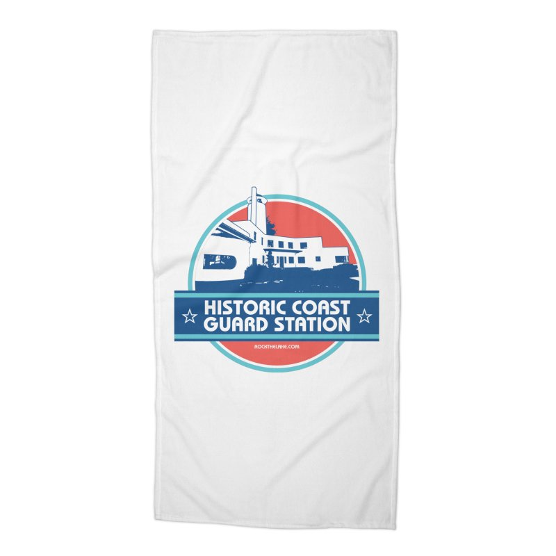 Old Coast Guard Station Accessories Beach Towel by Rock the Lake's Shop