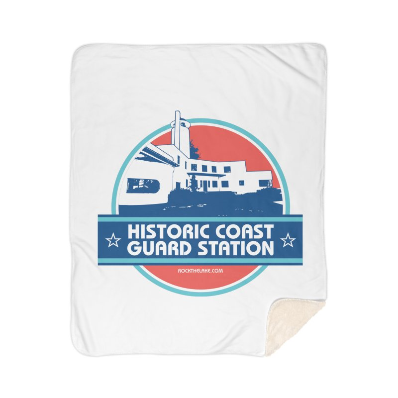 Old Coast Guard Station Home Sherpa Blanket Blanket by Rock the Lake's Shop