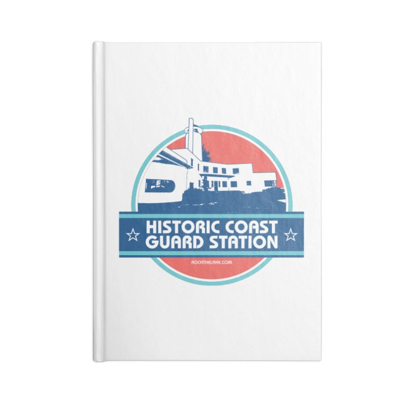 Old Coast Guard Station Accessories Lined Journal Notebook by Rock the Lake's Shop