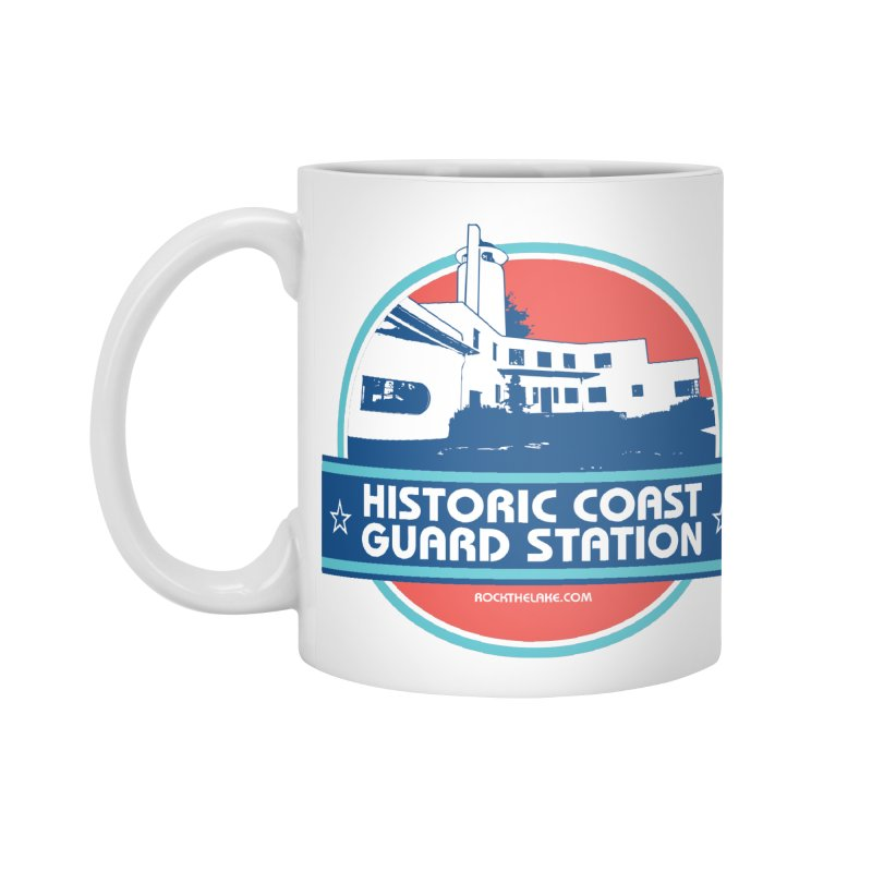 Old Coast Guard Station Accessories Mug by Rock the Lake's Shop