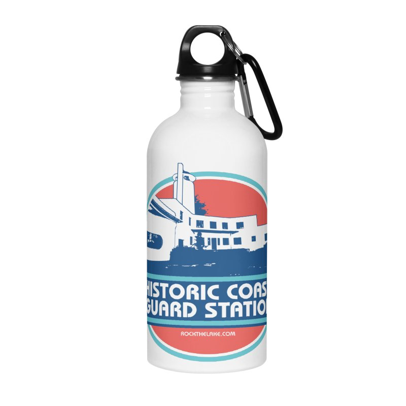 Old Coast Guard Station Accessories Water Bottle by Rock the Lake's Shop